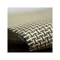 Tejido de fibra de kevlar-carbono tafetán 5x4 3K peso 165gr/m2 ancho 1000 mm.