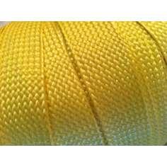 Muestra comercial de cinta plana de fibra de kevlar trenzada de 25mm