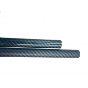 Carbon-kevlar fiber blue tube sight mesh (22mm. external Ø - 20mm. inner Ø) 1000mm.