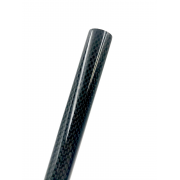 Carbon fiber tube sight mesh PLAIN (17mm. external Ø - 15mm. inner Ø) 1000mm.