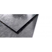 Two-sided carbon fiber plate GLOSS finish Marble-Forged - 400 x 250 x 4 mm.