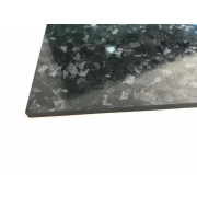 Two-sided carbon fiber plate GLOSS finish Marble-Forged - 500 x 400 x 10 mm.