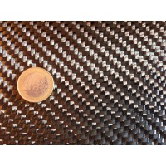 Amostra comercial de fibra de carbono tecida 2x2 12K-600g/m2 - 250 x 200 mm.