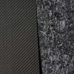 Placa de fibra de carbono de um lado - 400 x 400 x 2 mm.