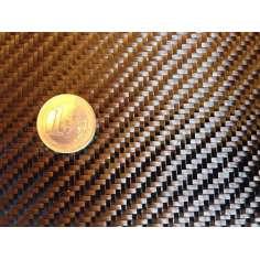 Amostra comercial de fibra de carbono tecida 2x2 3K-200g/m2 - 250 x 200 mm.