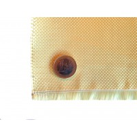 Commercial sample woven of kevlar fiber Taffeta 1x1 3K weight 180gr/m2 - 250mm x 200mm.