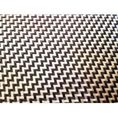 Amostra comercial de tecido de fibra de kevlar Sarja 2x2 3K peso 190gr/m2 - 250mm x 200mm.