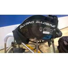 Conjunto de protetores de fibra de carbono personalizados para cadeiras de rodas.