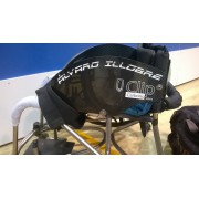 Set of custom carbon fiber protectors and customized for wheelchairs.