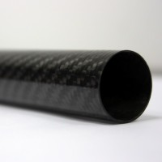 Tubo de fibra de carbono malla vista (40mm. Ø exterior - 37mm. Ø interior) 1500mm.