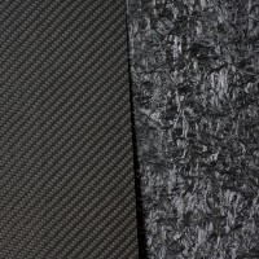 Placa de fibra de carbono de um lado - 1000 x 600 x 1 mm.