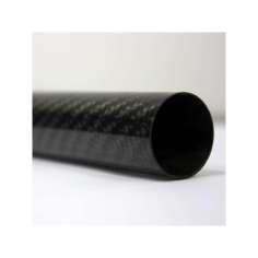 Tubo de fibra de carbono malla vista (28mm. Ø exterior - 25mm. Ø  interior) 1200mm.