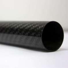 Tubo de fibra de carbono malla vista (30mm. Ø exterior - 27mm. Ø interior) 1000mm.