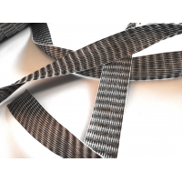 Comercial sample flat tape of carbon fiber 3K unidirectional of 25 mm.