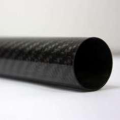 Tubo de fibra de carbono malha vista (35 mm. Ø externo - 33 mm. Ø interior) 1000 mm.