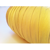 Comercial sample - Flat braided kevlar fiber tape - 10mm.