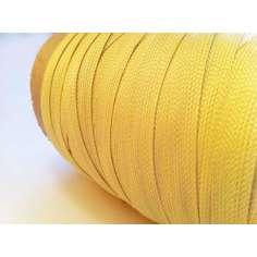 Muestra comercial de cinta plana de fibra de kevlar trenzada de 10mm