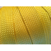 Comercial sample - Flat braided kevlar fiber tape - 25mm.