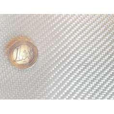 Amostra comercial de tecido de fibra de vidro Sarja 2x2 peso 200gr/m2 - 250mm x 200mm.