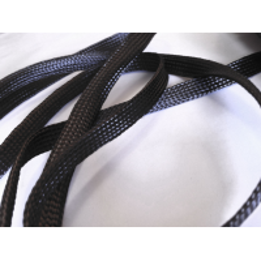 Amostra comercial de manga tubular trançada de fibra de carbono - Ø 15 mm.