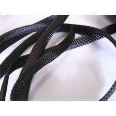 Muestra comercial manga tubular trenzada de fibra de carbono de 15mm Ø