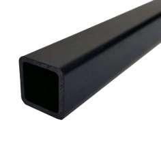 Tubo cuadrado, exterior  (4x4 mm.) - interior (2x2 mm.) de fibra de carbono - Longitud 1000 mm.
