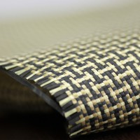 Commercial sample woven of kevlar-carbon fiber Plain (5x4) 3K weight 165gr/m2 - 250mm x 200mm.