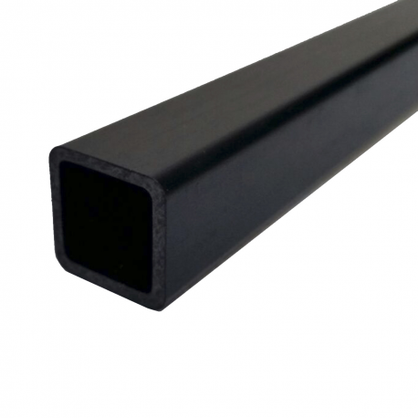 Square fiber carbon tube, outer (8x8 mm.) - interior (7x7mm.) - Length 2000 mm.