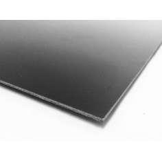 Plancha de fibra de carbono dos caras BRILLO - 400 x 250 x 1 mm.
