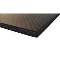 Carbon fiber sandwich plate with inner core - 400 x 250 x 7 mm.