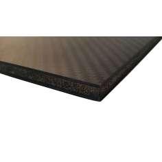Plancha sandwich de fibra de carbono con núcleo interior - 800 x 500 x 7 mm.
