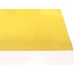 Amostra comercial de placa de fibra de kevlar de dois lados - 50 x 50 x 0,5 mm.