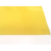Commercial sample of two-sided kevlar fiber plate - 50 x 50 x 0.5 mm.