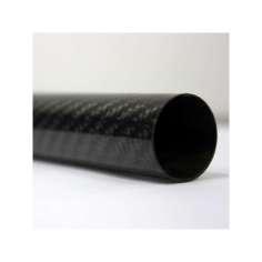 Tubo de fibra de carbono malla vista (34mm. Ø exterior - 32mm. Ø  interior) 1000mm.