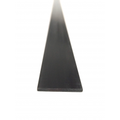 Placa, folha de fibra de carbono. Altura 0,6 mm x largura 3 mm. Comprimento 1000mm.