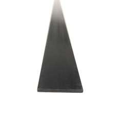 Placa, folha de fibra de carbono. Altura 1 mm x largura 6 mm. Comprimento 1000mm.