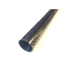 Tubo de fibra de carbono para pértiga telescópica (44mm, Ø externo - 41mm, Ø interno) 2000mm.