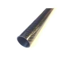 Tubo de fibra de carbono para pértiga telescópica (26,5mm, Ø externo - 23,5mm, Ø interno) 2000mm.
