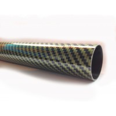 Tubo de fibra de carbono-kevlar malha vista (29 mm. Ø externo - 27 mm. Ø interior) 1000 mm.