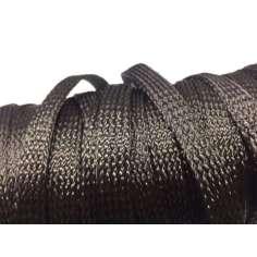 Muestra comercial manga tubular trenzada de fibra de carbono de 20mm Ø