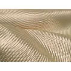 Tejido de fibra de kevlar Sarga 2x2 3K peso 180gr/m2 ancho 1200 mm.