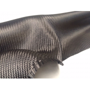 Commercial sample carbon fiber fabric 2x2 3K-160g/m2 - 250 x 200 mm.