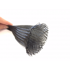 Manga tubular trançada de fibra de carbono - Ø 45 mm.