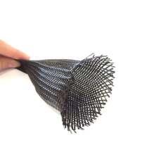 Manga Tubular trenzada de fibra de carbono de 45mm Ø