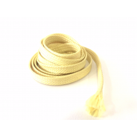 Commercial sample 6mm Ø Kevlar fiber braided tubular sleeve