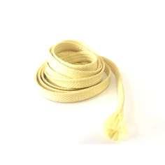 Muestra comercial manga tubular trenzada de fibra de kevlar de 6mm Ø