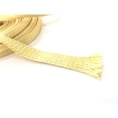 Muestra comercial manga tubular trenzada de fibra de kevlar de 20mm Ø