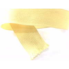 Amostra comercial de fita trançada plana da fibra de kevlar de 20mm - 1K