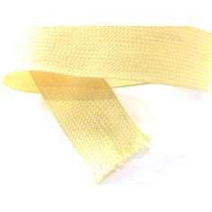 Muestra comercial de cinta plana de fibra de kevlar trenzada de 20mm - 1K