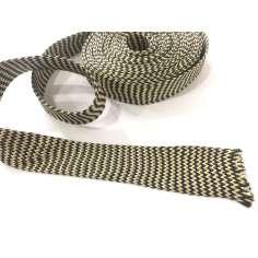 Amostra comercial de manga tubular trançada de fibra de kevlar-carbono - Ø 45 mm.